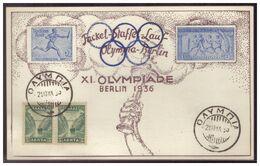 Dt- Reich (005479) Propagandakarte Fackel- Staffel-Lauf Olympia Berlin Am 21.10.1936 - Briefe U. Dokumente