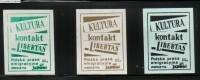 POLAND SOLIDARNOSC SOLIDARITY POLISH UNDERGROUND PRESS IN EXILE KULTURA, KONTAKT, LIBERTAS Newspapers Magazines Journals - Non Classificati