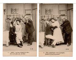 CPA - JEUNE FEMME / SEULEMENT LES JEUNES AMANTS ...  6 Cartes - Frauen