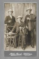 Y16336/ CDV Foto Drei Männer Mit Hut  Atelier Reich, Augustenburg Ca.1905 - Sin Clasificación