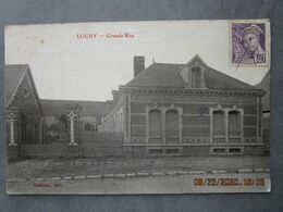 CPA 60 Oise  LUCHY Prés Crevecoeur Le Grand  - Grande Rue  écrite Et Timbrée 1939 - Crevecoeur Le Grand
