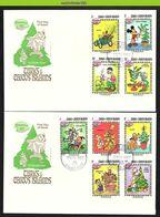 Nfe4471b WALT DISNEY KERSTMIS AUTO HOND PLUTO KERSTBOOM CHRISTMAS TREE CAR DOG HUNDE CHRISTMAS TURKS & CAICOS 1983 FDC - Disney