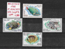 Poisson  Ange Baliste Poisson-papillon Rascasse - Belgiquie N°1470 à 1473 1968 ** - Pesci