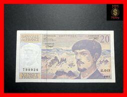 FRANCE 20 Francs 1993   P. 151   VF - 1962-1997 ''Francs''