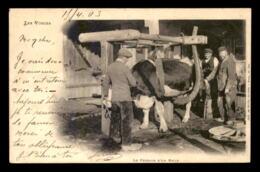 88 - LES VOSGES - LE FERRAGE D'UN BOEUF - THEME METIER - AGRICULTURE - Frankreich