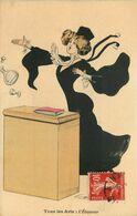 ILLUSTRATEUR  Georges MOUTON   Tous Les ARTS  L'eloquence  Avocat - Andere Illustrators