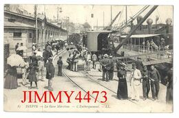 CPA - DIEPPE 76 Seine Maritime En 1907 - La Gare Maritime - L' Embarquement ( Bien Animé ) N°85 - L L  Scans Recto-Verso - Paquebote