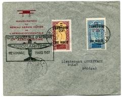 RC 18404 NIGER 1937 LETTRE 1er VOYAGE AEROMARITIME NIAMEY - DAKAR 1er VOL FFC - TB - Covers & Documents