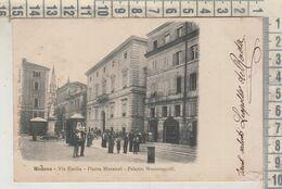 MODENA  VIA EMILIA PIAZZA MURATORI PALAZZO MONTECUCCOLI 1903 - Modena