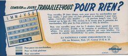 Buvard Ancien/Comptabilité/La Nationale Caisse Enregistreuse SA/Rue Réaumur Paris II/ Vers 1950-60  BUV463 - Blotters