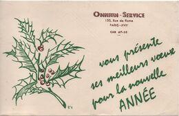 Buvard Ancien/OMNIUM-SERVICE/ Meilleurs Vœux Pour La Nouvelle Année/ Vers 1950-60  BUV464 - O