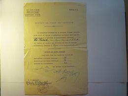 """2020 - 7135  19è Corps D'Armée Division D'ALGER  """" Brevet De Chef De Section D'Infanterie """"  1934  Alger  XXXX - Documents"""