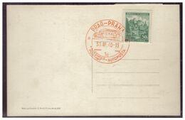 Böhmen Und Mähren (005581) AK Prag Blanco Gestempelt Mit Prag Autoposta Fahrbares Postamt Am 31.3.1940 - Storia Postale