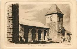 48 , Eau Forte De Ch Jaffeux , Saint-Chély-d'Aubrac , Eglise D'AUBRAC , * 404 08 - France