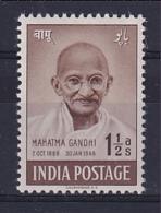 India: 1948   First Anniv Of Independence - Gandhi    SG305     1½a     MH - Ungebraucht