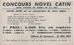 2 Buvards Anciens/CONCOURS NOVEL CATIN/NovelCatin Est Un Commerçant De Votre Région/1954     BUV465 - N