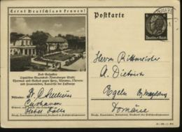 WW II Bild GS Postkarte Bad Salzuflen:gebraucht Cuxhaven - Magdeburg 1941, Bedarfserhaltung. - Duitsland