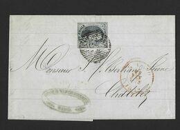 Brief Met Inhoud (pli),  Met Nr 7, Mooi Gerand, Van P45 Gand Naar Chatelet Aankomst ( Kwaliteit Zie Scans) - 1851-1857 Medaillons (6/8)