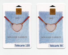 """2 Télécartes 50 Et 120 Unités """"Roland Garros 1993"""" - Sport"""
