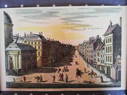 """Ancien Poster """"Vue Du Faubourg St-Honoré"""" (Format 40 X 25 Cm) - Affiches"""