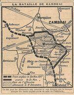 La Bataille De Cambrai. Stampa 1919 - Prints & Engravings