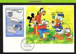 Nfe4402b WALT DISNEY DONALD 50 YEARS BIRTHDAY MICKEY GOOFY NEPHEWS TOGO 1984 FDC - Disney