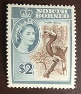 North Borneo 1961 $2 Hornbill Birds MNH - Sin Clasificación