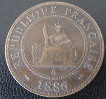 Indochine - Monnaie 1 Centime 1886 A (Paris) - Colonie