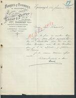 LETTRE COMMERCIALE DE 1899 FABRIQUE & COMMERCE DE BOUCHONS CANER & FLERRER À EPERNAY X ALBURQUERQUE & BAGUR : - Frankreich