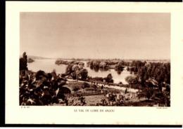 MAINE ET LOIRE (49) Fiche Année 1937 Le Val De Loire En Anjou Vue Prise De Gennes Cliché Millet - Aardrijkskunde
