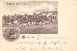 België Belgien Parade Marsch In Galopp  Gruss Aus Herbesthal Lontzen Liege     M 4520 - Lontzen