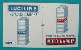BUVARD Ancien Publicitaire - Pétrole LUCILINE, Essence Moto-Naphta - Automotive