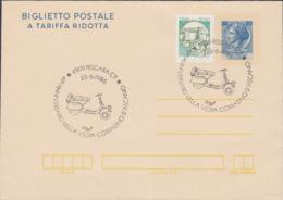 Italy Upfranked Postal Stationary Posted Pescara 1986 Vespa 40. Anniversary (EB1-10) - Motos