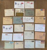 Lot Lettres Enveloppes Divers à étudier Timbres Marcophilie - 1961-....