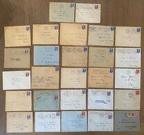 Lot Lettres Enveloppes Avec Timbre Marianne Gandon à étudier Marcophilie - 1921-1960: Modern Period