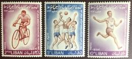 Lebanon 1964 Mediterranean Games Postage Set MNH - Libano
