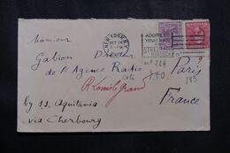 ETATS UNIS  - Enveloppe De New York  Pour La France En 1921  - L 70020 - Briefe U. Dokumente