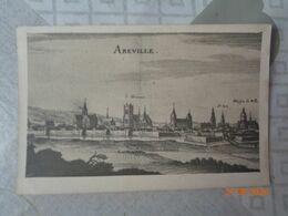 ABBEVILLE :plan ,topographie De La Picardie Par Meryan En 1656(descriptif Au Dos) - Abbeville