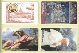 CARTA TELEFONICA VATICANA €- NUMERO 98/101 - NUOVA - URMET- GARANTITE MAGNETIZZATE - VATICAN PHONE CARD - Vatikan
