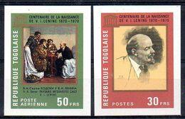 Togo 667 Et PA 135 Non Dentelés ( Imperforés ) Vladimir Ilitch Lénine, 100 éme Anniversaire De La Naissance 1870 - 1970 - Lenin