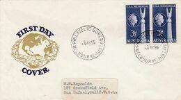 AUSTRALIA 1955 FDC - Lettres & Documents