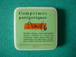 Ancienne Petite Boîte En Métal Comprimés Parégoriques DEMEL - Medical & Dental Equipment