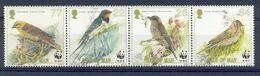 Nbx272s WWF FAUNA VOGELS ZWALUW SWALLOW FLYCATCHER SKYLARK YELLOWHAMMER BIRDS VÖGEL AVES OISEAUX ISLE OF MAN 2000 PF/MNH - Ungebraucht