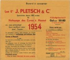Grand Buvard Ancien/ Nettoyage Des Cuves à Mazout/ Ets J.PLETSCH & Cie/Rue Roger Bacon/Paris 17éme/1954    BUV469 - Idrocarburi