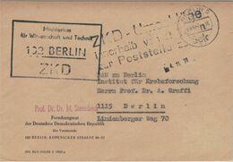 ZKD Ministerium Wissenschaft & Technik Berlin - Prof. Dr. Max Steenbeck An DAW Institut Krebsforschung - Betatron 1971 - Medizin
