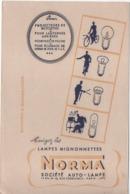 Buvard Ancien/ Lampes Mignonettes/ NORMA Société Auto-Lampe/Rue Torricelli/ PARIS 17éme/Vers 1950-60    BUV472 - Bikes & Mopeds