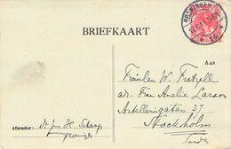 NETHERLANDS - BRIEFKAART 1911 GRONINGEN - STOCKHOLM /AS60 - 1891-1948 (Wilhelmine)