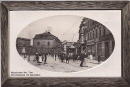 ALLEMAGNE NEUNKIRCHEN Stummdenkmal Mit Batnhofstr Tramway ,façade Commerce ,carte Gauffrée - Sonstige