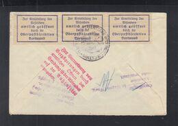 Dt. Reich Brief 1932 Hagen Nach Leipzig Amtlich Geöffnet Verzögerungen Nicht Ermittelt - Storia Postale