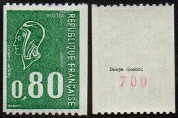 France N° 1894 A ** Marianne De Béquet. Roulette Le 80c Vert Numéro Rouge Au Verso - Nuevos